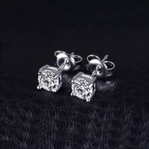 1 ct. CZ Stud Earrings